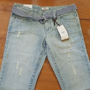 NWT SO Flare Jeans with belt